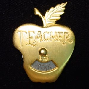 🆕 'Apple TEACHER is Nice, Fun, Cool & Smart' Pin
